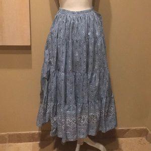 Cowgirl Bandana Broomstick Skirt or Dress